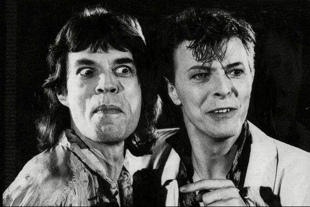 David Bowie et Mick Jagger dans les années 1980.