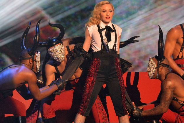 Madonna sur la scène des Brit Awards, le 25 février dernier.
