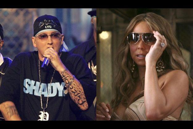 Eminem et Mariah Carey.