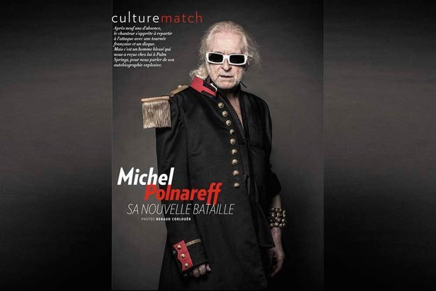 Michel Polnareff pose pour Paris Match.