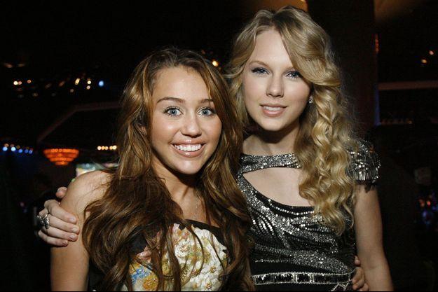 Miley Cyrus et Taylor Swift à l'époque où elles étaient amies