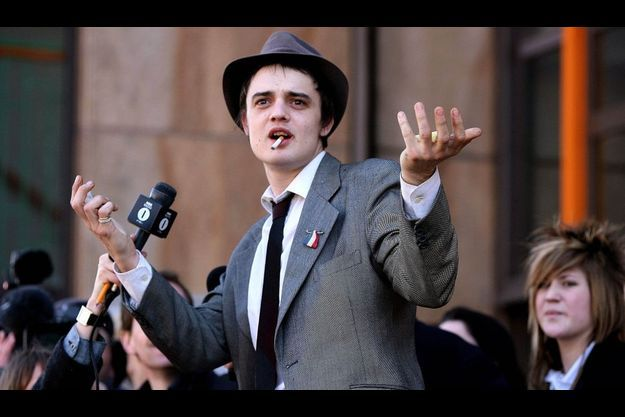 Pete Doherty à Londres en 2006.