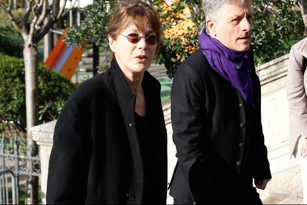 Jane Birkin lors des funérailles d'Alain Resnais, le 10 mars 2013.