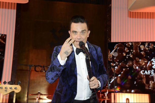 Robbie Williams au Palais de Tokyo, ce lundi à Paris.