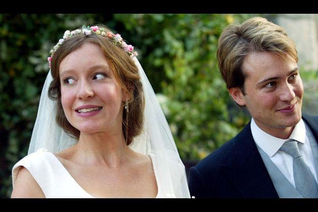 Kate Rothschild et Ben Goldsmith, lors de leur mariage en 2003.
