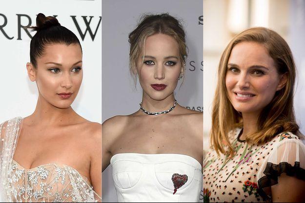 Bella Hadid, Jennifer Lawrence et Natalie Portman.