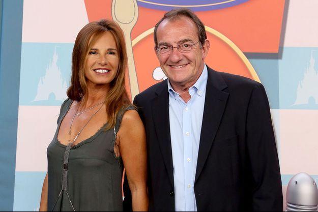 Nathalie Marquay et Jean-Pierre Pernaut à Paris, le 21 juin 2014