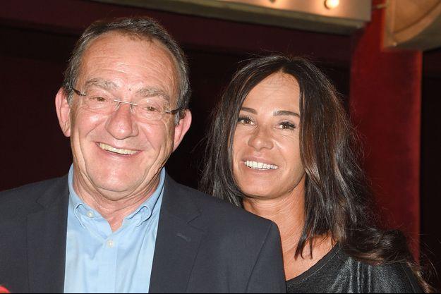 Jean-Pierre Pernaut et sa femme Nathalie Marquay, le 24 mai à Paris.