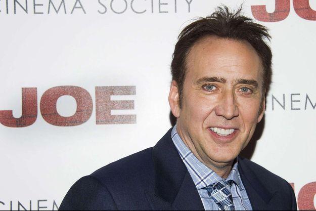 """Nicolas Cage à l'avant-première de """"Joe"""", à New-York en 2014."""