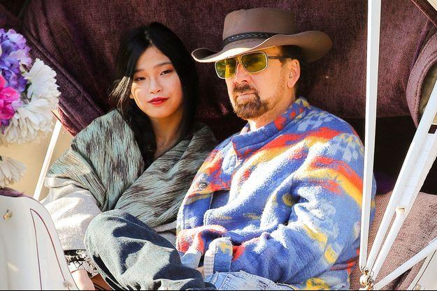 Riko Shibata et Nicolas Cage à New York, en mars 2020.