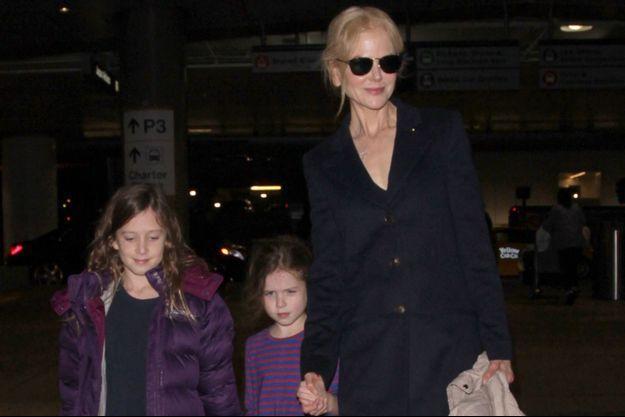Nicole Kidman et ses filles à Los Angeles en décembre 2016