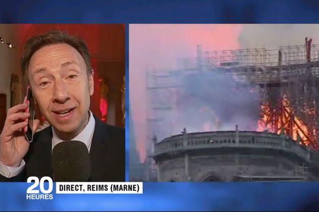 Stéphane Bern en direct sur France 2.