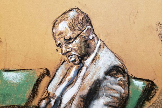 R. Kelly au premier jour de son procès à New York.