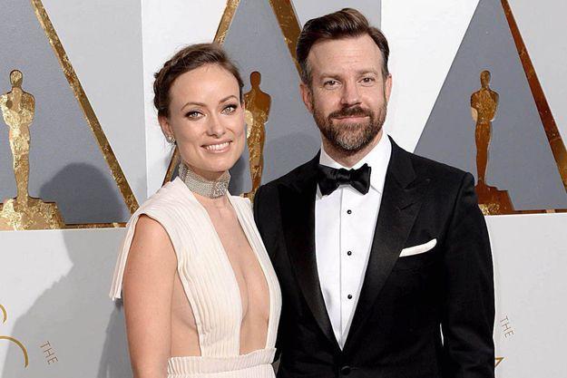 Olivia Wilde et Jason Sudeiki en février 2016 à la cérémonie des Oscars.