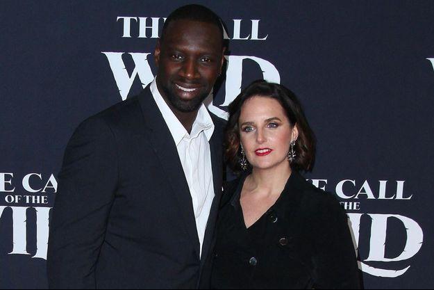 """Omar et Hélène Sy en février 2020 à la première du film """"L'Appel de la forêt"""" à Los Angeles"""