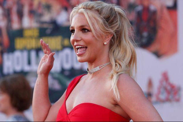 """Britney Spears en juillet 2019 à Los Angeles à la première de """"Once Upon a Time In Hollywood""""."""