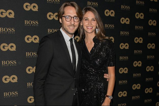 Mathieu Vergne et Ophélie Meunier aux GQ Men of the Year Awards en novembre 2017 à Paris, France
