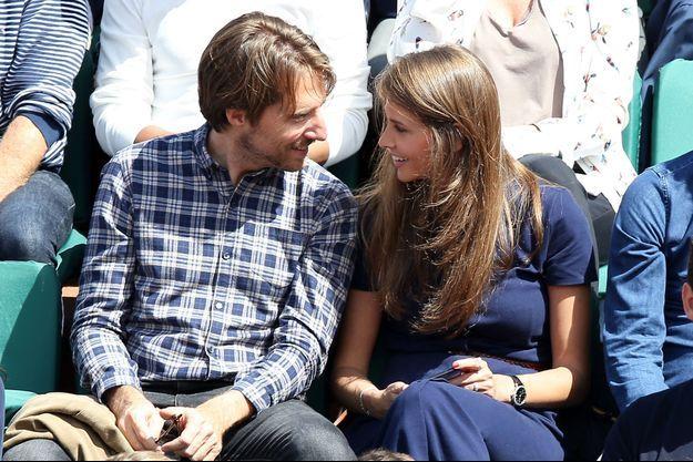 Ophélie Meuniet et Mathieu Vergne à Roland Garros en 2017.
