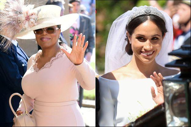 Oprah Winfrey (au mariage princier) et Meghan Markle