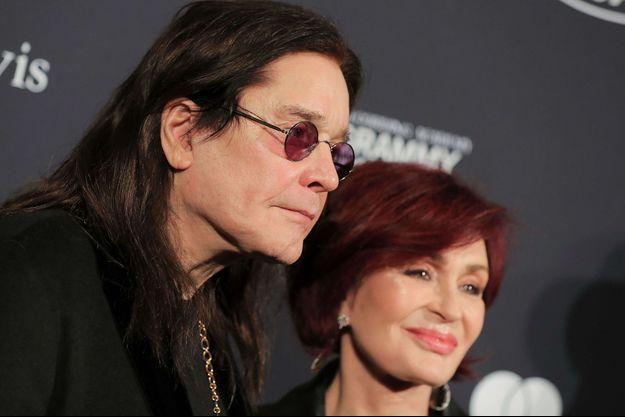 Ozzy et Sharon Osbourne en janvier 2020