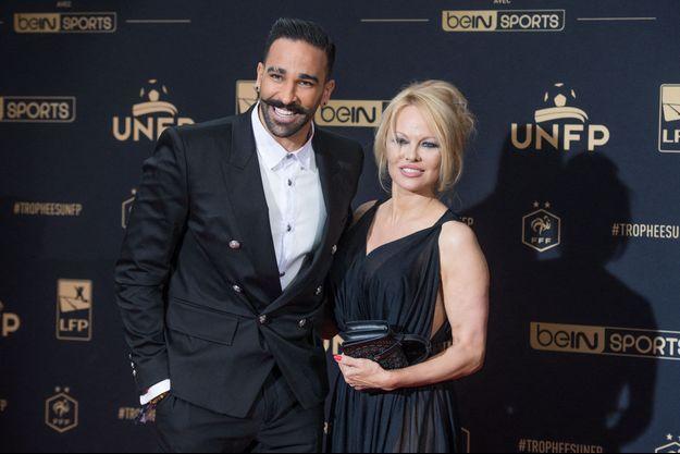 Adil Rami et Pamela Anderson à la cérémonie des Trophées UNPF le 19 mai 2019.