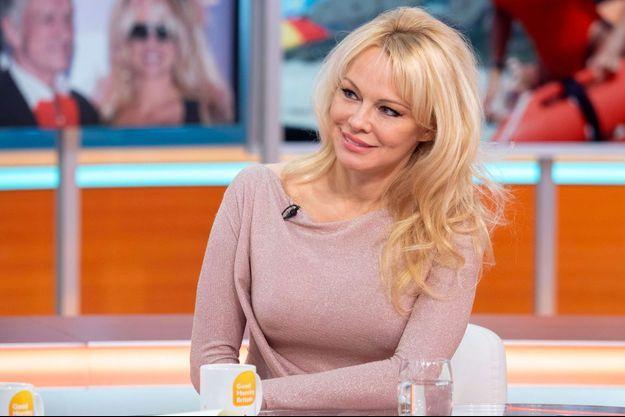 Pamela Anderson, en avril lors d'une émission de télé à Londres.