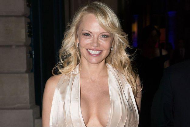 Pamela Anderson en mai 2018, à Paris.