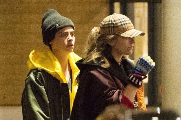 Paris Jackson et Cara Delevingne en février 2018.