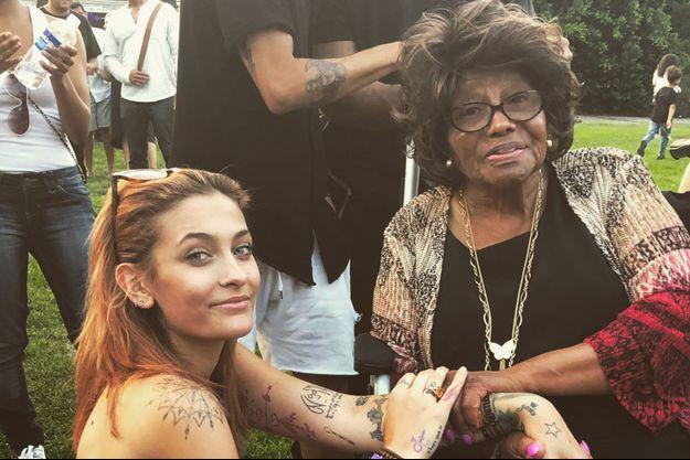Paris Jackson et sa grand-mère Katherine à Los Angeles le 11 août 2018