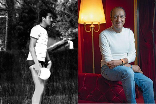 Pascal Légitimus est en tournée jusqu'au 20 avril avec son spectacle « Légitimus Incognitus ». A gauche : à La Baule en 1979, raquette en main.