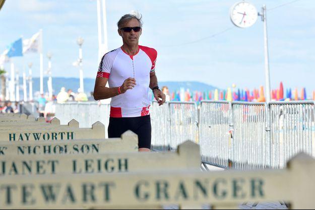 Paul Belmondo au triathlon de Deauville.
