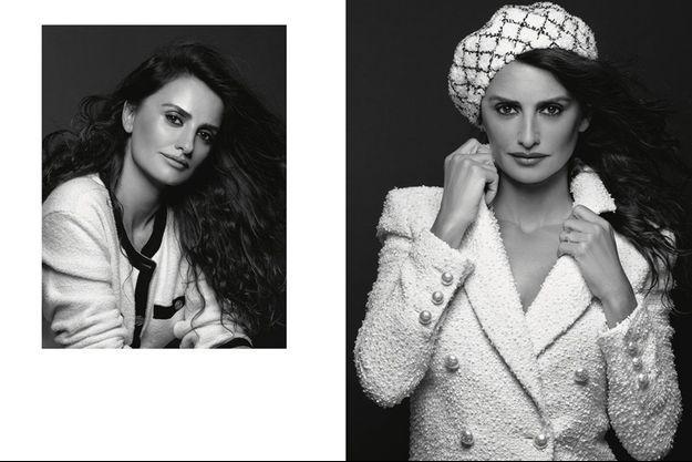 Penélope Cruz dans la campagne de la collection Croisière 2018-2019 de Chanel.