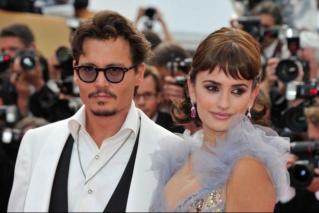 Johnny Depp et Penélope Cruz au Festival de Cannes en 2011.