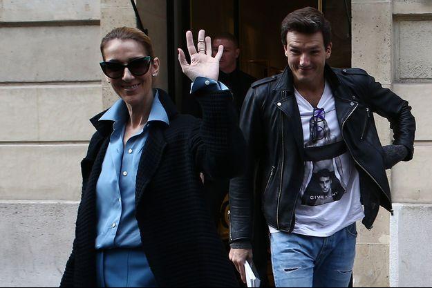 Céline Dion et Pepe Munoz à Paris.