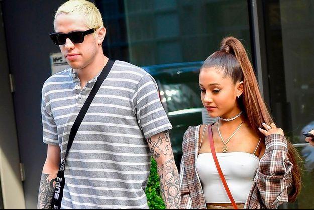 Pete Davidson et Ariana Grande à New York le 16 juillet 2018