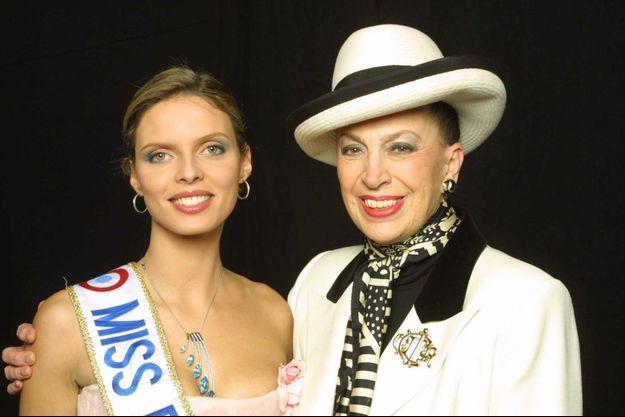 Sylvie Tellier et Geneviève de Fontenay en 2002.