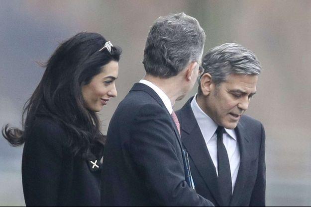 Amal et George Clooney en Allemagne en mars 2016.