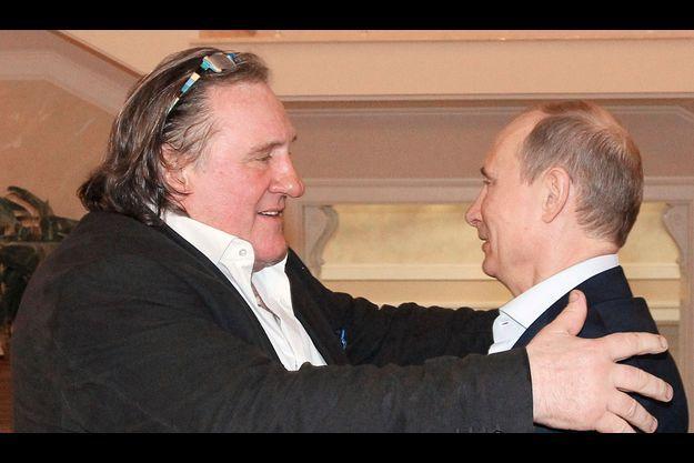 Gérard Depardieu et Vladimir Poutine.