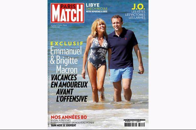 Emmanuel et Brigitte Macron en couverture du numéro 3509 de Paris Match