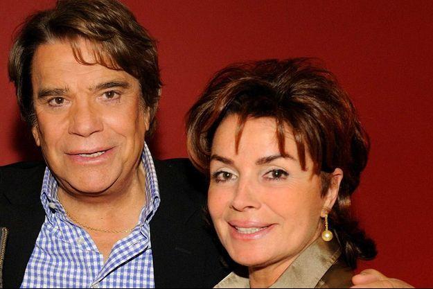 Bernard et Dominique Tapie au théâtre en avril 2012.
