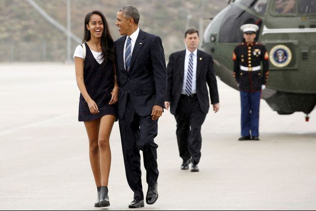 Malia et Barack Obama, photographiés le 8 avril 2016.