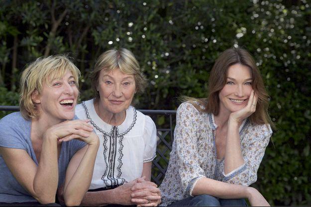 Valeria, Marisa et Carla Bruni Tadeshi