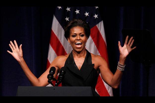 Michelle Obama, lors d'un dîner de collecte de fonds, en septembre 2011.