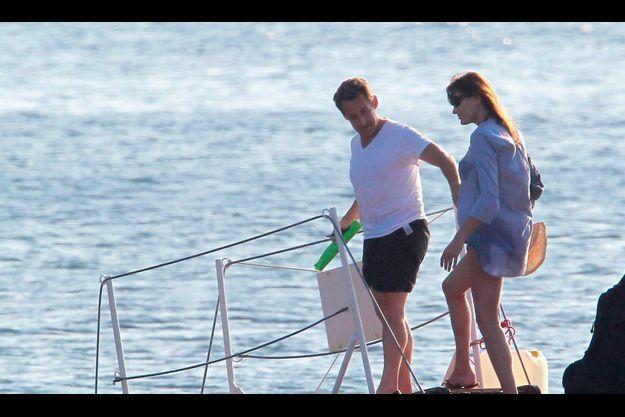 Nicolas Sarkozy et Carla Bruni-Sarkozy sont en vacances au Fort Brégançon.