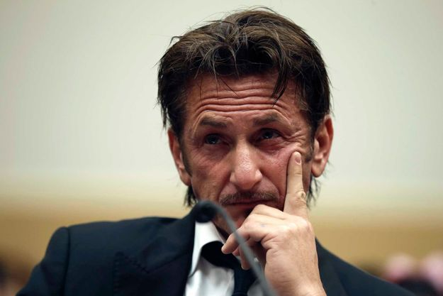 Sean Penn devant le House Foreign Affairs Africa, Global Health, Global Human Rights and International Organizations Subcommittee lundi.