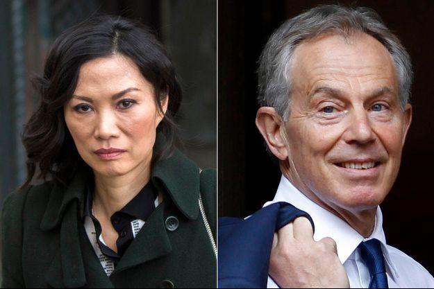 Wendi Murdoch et Tony Blair