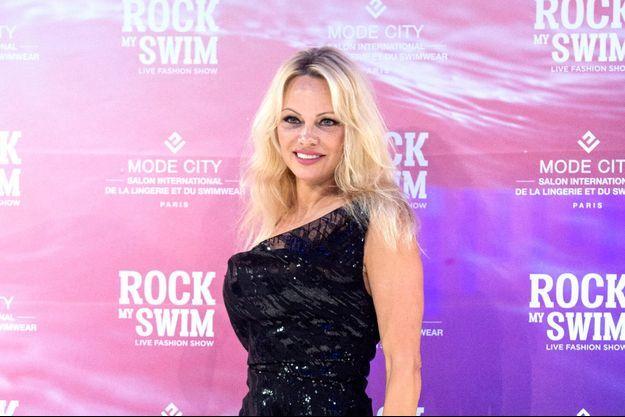 Pamela Anderson le 8 juillet 2017 à Paris.