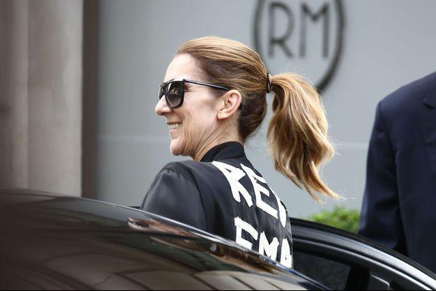 Céline Dion à Paris en 2017.