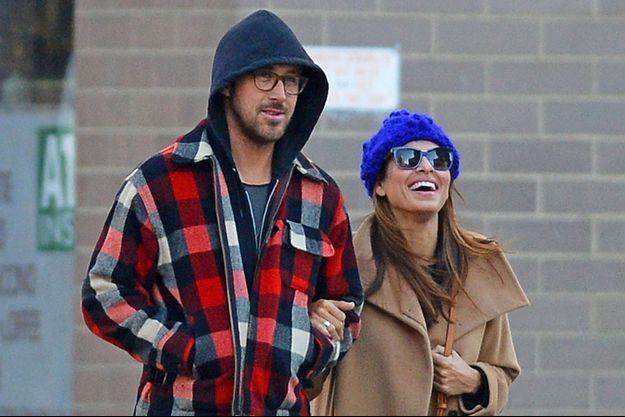 Ryan Gosling et Eva Mendes en 2012 à New York