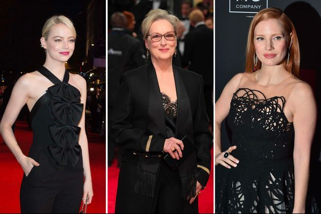 Emma Stone, Meryl Streep, Jessica Chastain opteront pour le noir aux Golden Globes 2018